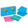 Post-it Original Pop-up Refill, 3 x 3, Assorted Jaipur Colors, 100-Sheet, 6/Pack