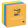 Post-it Pads in Rio de Janeiro Colors, 3 x 3, 90-Sheet, 5/Pack