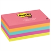 Post-it Original Pads in Cape Town Colors, 3 x 5, 100-Sheet, 5/Pack
