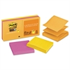 Post-it Pop-up 3 x 3 Note Refill, Rio de Janeiro, 90-Sheet, 6/Pack