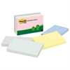 Post-it Recycled Note Pads, 3 x 5, Assorted Helsinki Colors, 100-Sheet, 5/Pack