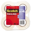 "Scotch Tear-By-Hand Packaging Tape, 1.88"" x 50yds, 1 1/2"" Core, Clear, 4/Pack"