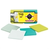 Full Adhesive Notes, 3 x 3, Bora Bora Colors, 12/Pack