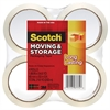 "Scotch Moving & Storage Tape, 1.88"" x 54.6yds, 3"" Core, Clear, 4 Rolls/Pack"
