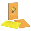 Post-it Pads in Rio de Janeiro Colors, Lined, 5 x 8, 45-Sheet, 4/Pack