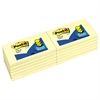 Post-it Original Canary Yellow Pop-Up Refill, 3 x 5, 12/Pack