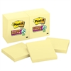 Post-it Canary Yellow Note Pads, 3 x 3, 90-Sheet, 12/Pack