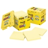 Post-it Canary Yellow Note Pads, Lined, 4 x 4, 90-Sheet, 12/Pack