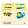 Note Pad, 3 x 3, Canary Yellow, 90-Sheet, 36/Pack