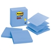Pop-up Notes Refill, Lined, 4 x 4, Periwinkle, 90-Sheet, 5/Pack