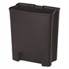 Rubbermaid Commercial Step-On Rigid Liner For Resin Front Step, Plastic, 8 gal, Black