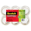 "Scotch Sure Start Packaging Tape, 1.88"" x 54.6yds, 3"" Core, Clear, 6/Pack"