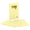 Post-it Original Pads in Canary Yellow, Lined, 5 x 8, 50-Sheet, 2/Pack