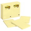 Post-it Original Pads in Canary Yellow, 4 x 6, 100-Sheet, 12/Pack