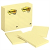 Post-it Original Pads in Canary Yellow, Lined, 4 x 6, 100-Sheet, 12/Pack