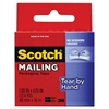 """Scotch Tear-By-Hand Packaging Tape, 1.88"""" x 17 1/2 yds, 1 1/2"""" Core, Clear"""