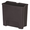 Rubbermaid Commercial Step-On Rigid Liner For Resin Front Step, Plastic, 4 gal, Black