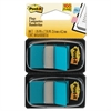 Post-it Standard Page Flags in Dispenser, Bright Blue, 100 Flags/Dispenser