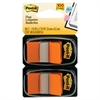 Post-it Standard Page Flags in Dispenser, Orange, 100 Flags/Dispenser