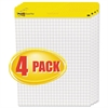 Post-it Self Stick Easel Pads, Quadrille, 25 x 30, White, 4 30 Sheet Pads/Carton