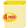 Post-it Self Stick Easel Pads, Ruled, 25 x 30, Yellow, 4 30 Sheet Pads/Carton