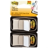 Standard Page Flags in Dispenser, White, 100 Flags/Dispenser