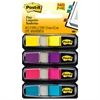 Post-it Small Page Flags in Dispensers, Four Colors, 35/Color, 4 Dispensers/Pack