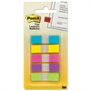 Post-it Page Flags in Portable Dispenser, 5 Bright Colors, 5 Dispensers, 20 Flags/Color