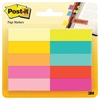 Post-it Page Flag Markers, Assorted Bright Colors, 50 Sheets/Pad, 10 Pads/Pack