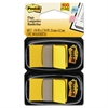Post-it Standard Page Flags in Dispenser, Yellow, 100 Flags/Dispenser