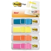 "Highlighting Page Flags, 4 Bright Colors, 4 Dispensers, 1/2"" x 1 3/4"", 35/Color"