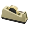 "Scotch Heavy-Duty Weighted Desktop Tape Dispenser, 3"" Core, Plastic, Putty/Brown"