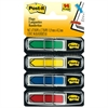 "Arrow 1/2"" Page Flags, Blue/Green /Red/Yellow, 24/Color, 96-Flags/Pack"