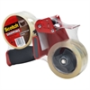 "Packaging Tape Dispenser with 2 Rolls of Tape, 1.88"" x 54.6yds"