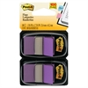Post-it Standard Page Flags in Dispenser, Purple, 100 Flags/Dispenser