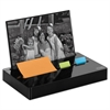 "Post-it Pop-up Note/Flag Dispenser Plus Photo Frame with 3 x 3 Pad, 50 1"" Flags, Black"