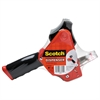"Scotch Pistol Grip Packaging Tape Dispenser, 3"" Core, Metal, Red"