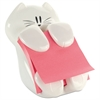 Post-it Pop-Up Note Dispenser Cat Shape, 3 x 3, White