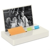 "Post-it Pop-up Note/Flag Dispenser Plus Photo Frame with 3 x 3 Pad, 50 1"" Flags, White"