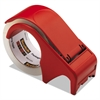 "Scotch Compact and Quick Loading Dispenser for Box Sealing Tape, 3"" Core, Plastic, Red"