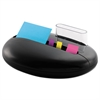 Post-it Note and Flag Combo Pebble Dispenser, 3 x 3 Notes, Assorted Flags, Black
