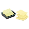 Post-it Pop-up Note Dispenser/Value Pack, 4 x 4 Self-Stick Notes, Black/Clear