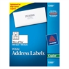 Avery Copier Address Labels, 1 1/2 x 2 13/16, White, 2100/Box