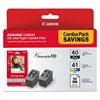 0615B009 (PG-40/CL-41) ChromaLife100+ Ink & Paper Combo Pack, Black/Tri-Color