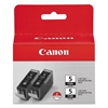 Canon 0628B009 (PGI-5BK) ChromaLife100+ Ink, Black, 2/PK