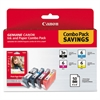 Canon 4479A292 (BCI-3E/BCI-6) Ink & Paper Combo Pack, Black/Cyan/Magenta/Yellow