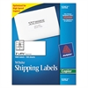 Avery Copier Shipping Labels, 2 x 4 1/4, White, 1000/Box