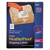 Avery WeatherProof Shipping Labels w/TrueBlock, Laser, White, 3 1/3 x 4, 300/Pack