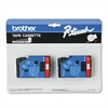 "P-Touch TC Tape Cartridges for P-Touch Labelers, 1/2""w, Red on White, 2/Pack"