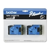 "Brother P-Touch TC Tape Cartridges for P-Touch Labelers, 1/2""w, Gold on Black, 2/Pack"